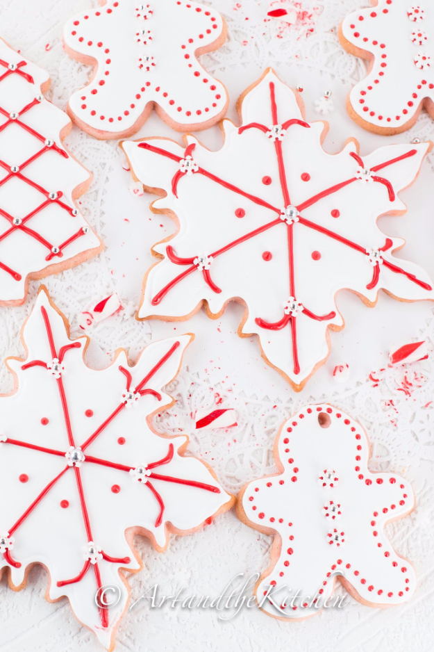 Best Recipes for Christmas Cookies- Candy Cane Sugar Cookies - Easy Decorated Holiday Cookies - Candy Cookie Recipes Ideas for Kids - Traditional Favorites and Gluten Free and Healthy Versions - Quick No Bake Cookies and Last Minute Desserts for the Holidays