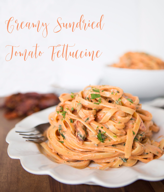 Best Copycat Recipes From Top Restaurants - Cheesecake Factory Copycat Creamy Sundried Tomato Fettuccine - Awesome Recipe Knockoffs and Recipe Ideas from Chipotle Restaurant, Starbucks, Olive Garden, Cinabbon, Cracker Barrel, Taco Bell, Cheesecake Factory, KFC, Mc Donalds, Red Lobster, Panda Express #recipes #copycat #dinnerideas