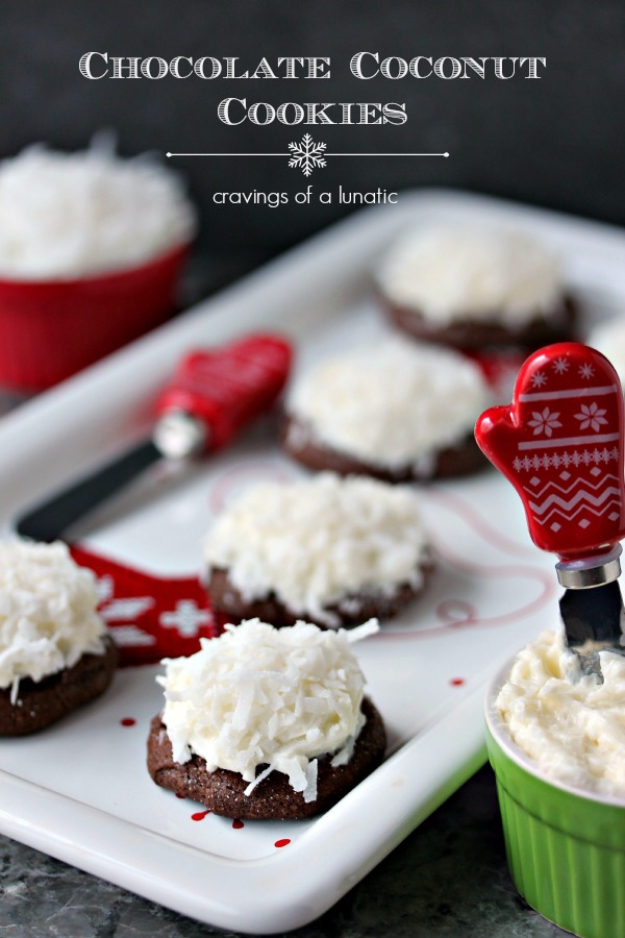 Quick Recipes for Christmas Cookies- Chocolate Coconut Cookies - Easy Decorated Holiday Cookies - Candy Cookie Recipes Ideas for Kids - Traditional Favorites and Gluten Free and Healthy Versions - Quick No Bake Cookies and Last Minute Desserts for the Holiday
