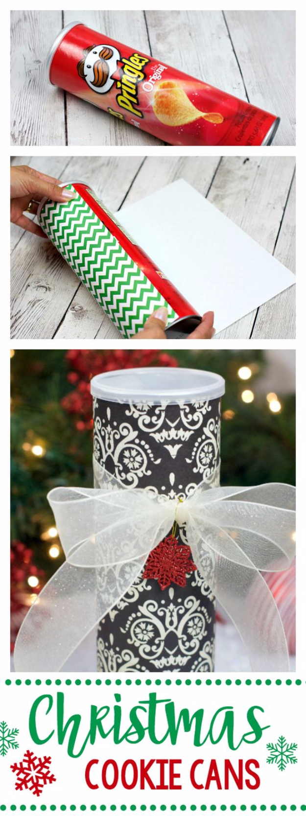 Best DIY Ideas for Wintertime - Christmas Cookie Cans - Winter Crafts with Snowflakes, Icicle Art and Projects, Wreaths, Woodland and Winter Wonderland Decor, Mason Jars and Dollar Store Ideas - Easy DIY Ideas to Decorate Home and Room for Winter - Creative Home Decor and Room Decorations for Adults, Teens and Kids #diy #winter #crafts