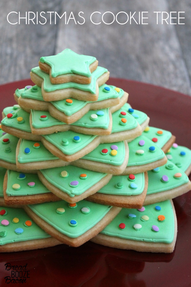 Best Recipes for Christmas Cookies- Christmas Cookie Tree - Easy Decorated Holiday Cookies - Candy Cookie Recipes Ideas for Kids - Traditional Favorites and Gluten Free and Healthy Versions - Quick No Bake Cookies and Last Minute Desserts for the Holidays