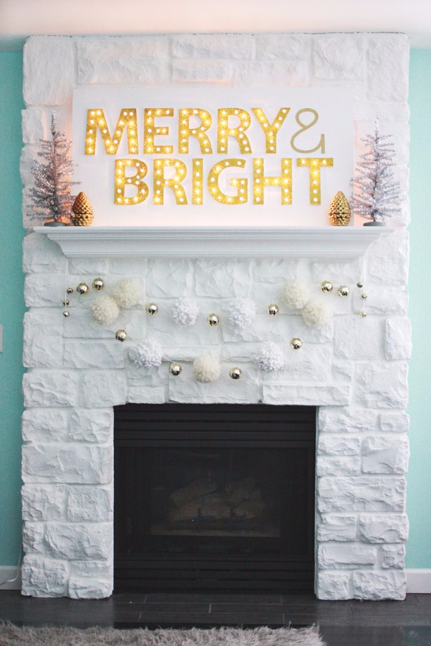 Cool Ways To Use Christmas Lights - Christmas Light Up Marquee DIY - Best Easy DIY Ideas for String Lights for Room Decoration, Home Decor and Creative DIY Bedroom Lighting #diy #christmas #homedecor