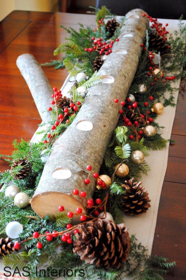 Christmas Log Centerpiece