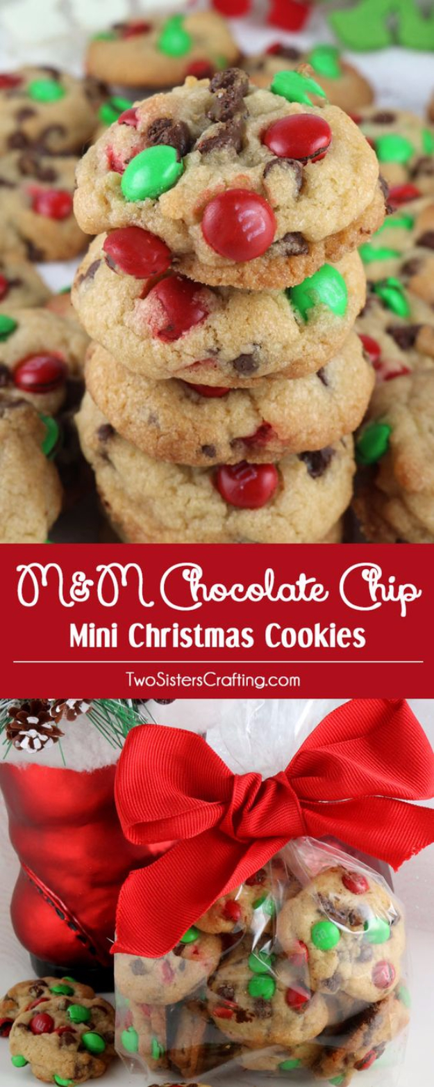 Best Recipes for Christmas Cookies- Christmas M&M Mini Cookies - Easy Decorated Holiday Cookies - Candy Cookie Recipes Ideas for Kids - Traditional Favorites and Gluten Free and Healthy Versions - Quick No Bake Cookies and Last Minute Desserts for the Holidays