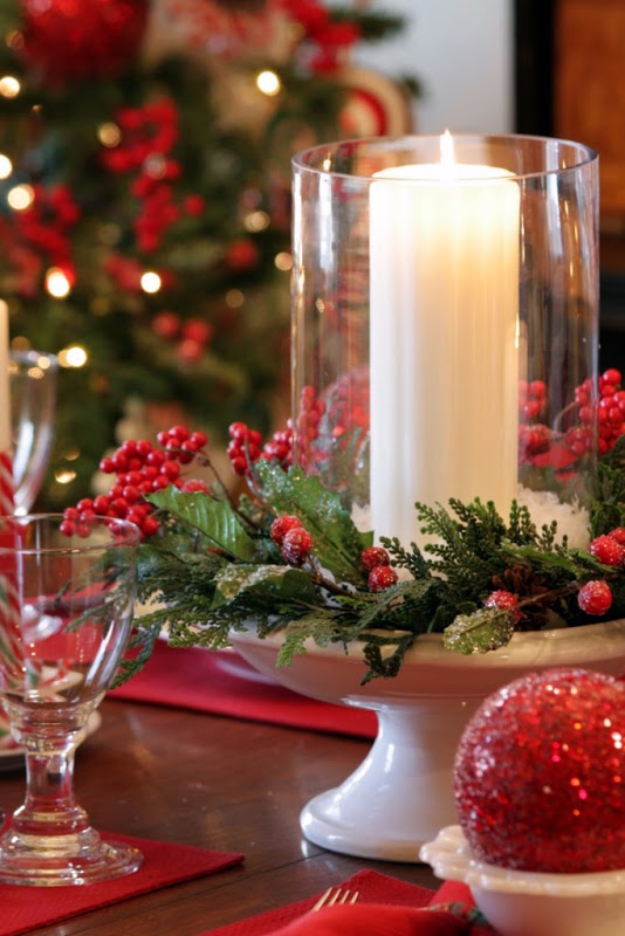 DIY Christmas Centerpieces - Christmas Tablescape - Simple, Easy Holiday Decorating Ideas on A Budget- cheap dollar store crafts holiday #holiday #crafts #christmas
