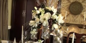 She Makes A Stunning Holiday Centerpiece And She Bought The Supplies At The Dollar Store!