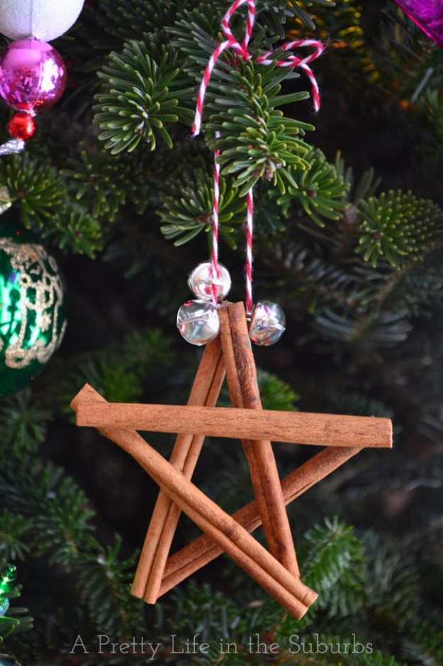 Best DIY Ornaments for Your Tree - Best DIY Ornament Ideas for Your Christmas Tree - Cinnamon Star Ornaments - Cool Handmade Ornaments, DIY Decorating Ideas and Ornament Tutorials - Creative Ways To Decorate Trees on A Budget - Cheap Rustic Decor, Easy Step by Step Tutorials - Holiday Crafts for Kids and Gifts To Make For Friends and Family