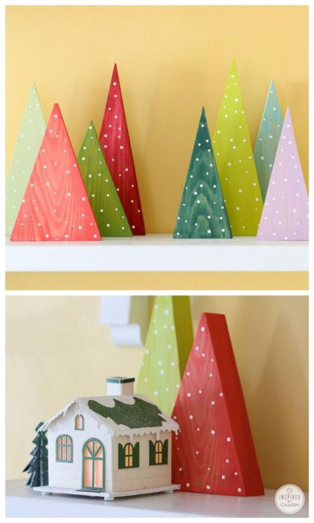 Best DIY Ideas for Your Christmas Tree - Colorful DIY Forest - Cool Handmade Ornaments, DIY Decorating Ideas and Ornament Tutorials - Creative Ways To Decorate Trees on A Budget - Cheap Rustic Decor, Easy Step by Step Tutorials - Holiday Crafts for Kids and Gifts To Make For Friends and Family http://diyjoy.com/diy-ideas-christmas-tree