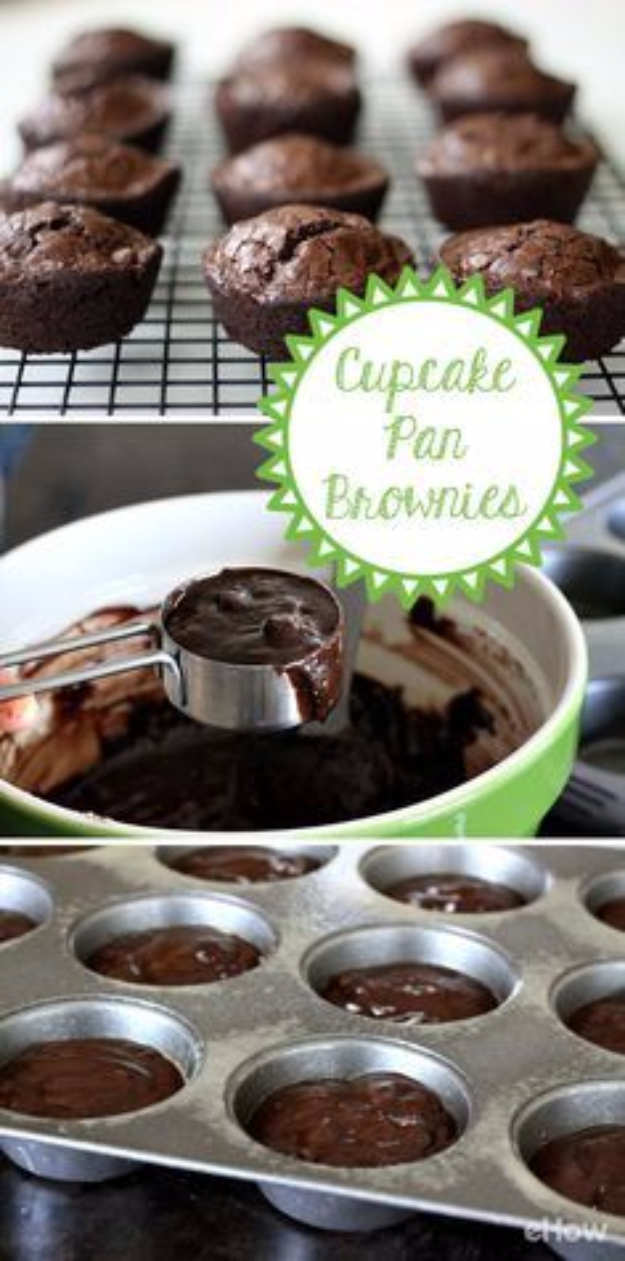 Best Baking Hacks - Cook Brownies In A Cupcake Pan - DIY Cooking Tips and Tricks for Baking Recipes - Quick Ways to Bake Cake, Cupcakes, Desserts and Cookies - Kitchen Lifehacks for Bakers