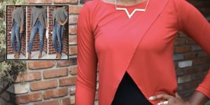 She Makes A Fabulous Criss Cross Blouse For The Holidays (Easy!)