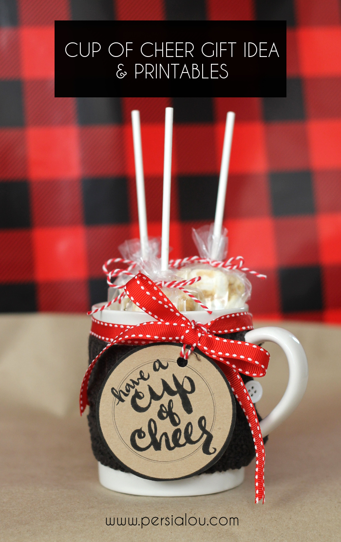 DIY Gifts for Friends - Christmas Gift Idea for Neighbor - - Cup Of Cheer Gift For Friends And Neighbors - Cute Mason Jar Crafts, Gift Baskets and Cheap and Easy Gift Ideas to Make for Friends - Do It Yourself Projects You Can Sew and Craft That Make Awesome DIY Gifts and Homemade Christmas Presents #diygifts #christmasgifts #xmasgifts