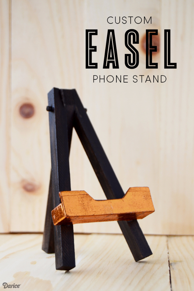 DIY Gifts for Friends - Christmas Gift Idea for Neighbor - - Custom Easel Phone Stand - Cute Mason Jar Crafts, Gift Baskets and Cheap and Easy Gift Ideas to Make for Friends - Do It Yourself Projects You Can Sew and Craft That Make Awesome DIY Gifts and Homemade Christmas Presents