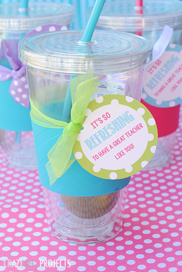 DIY Teacher Gifts - Cute Cups Teacher Appreciation Gift - Cheap and Easy Presents and DIY Gift Ideas for Teachers at Christmas, End of Year, First Day and Birthday - Teacher Appreciation Gifts and Crafts - Cute Mason Jar Ideas and Thoughtful, Unique Gifts from Kids http://diyjoy.com/diy-teacher-gifts