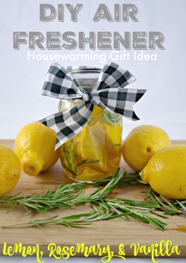 DIY Housewarming Gifts - DIY Air Freshener- Best Do It Yourself Gift Ideas for Friends With A New House, Home or Apartment - Creative, Cheap and Quick Crafts and DIY Ideas for Housewarming Presents - Mason Jar Gifts, Baskets, Gifts for Women and Men http://diyjoy.com/diy-housewarming-gifts