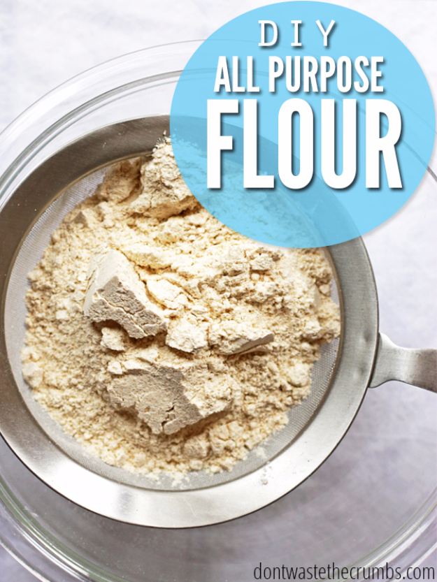 Best Baking Hacks - DIY All Purpose Flour - DIY Cooking Tips and Tricks for Baking Recipes - Quick Ways to Bake Cake, Cupcakes, Desserts and Cookies - Kitchen Lifehacks for Bakers http://diyjoy.com/baking-hacks