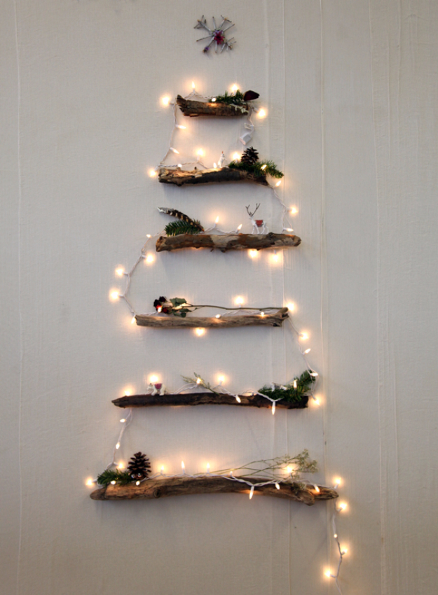 Cool Ways To Use Christmas Lights - DIY Alternative Christmas Tree - Best Easy DIY Ideas for String Lights for Room Decoration, Home Decor and Creative DIY Bedroom Lighting #diy #christmas #homedecor