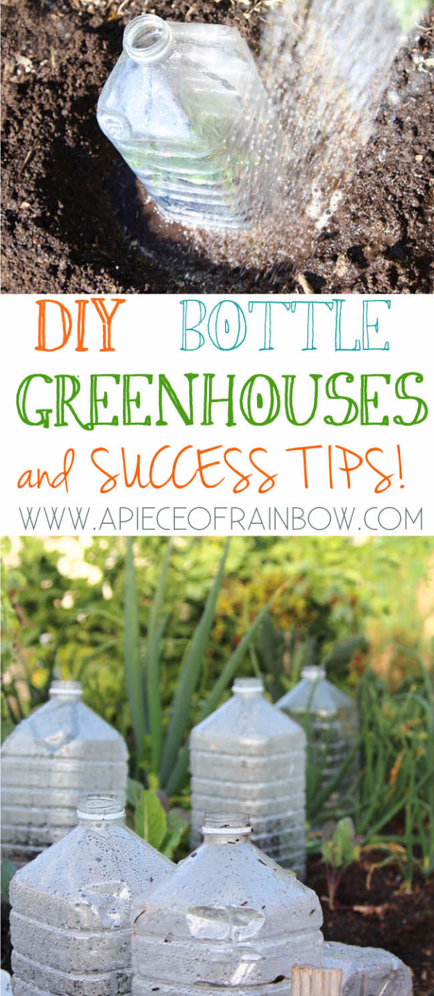 Cool DIY Projects Made With Plastic Bottles - DIY Bottle Greenhouses - Best Easy Crafts and DIY Ideas Made With A Recycled Plastic Bottle - Jewlery, Home Decor, Planters, Craft Project Tutorials - Cheap Ways to Decorate and Creative DIY Gifts for Christmas Holidays - Fun Projects for Adults, Teens and Kids