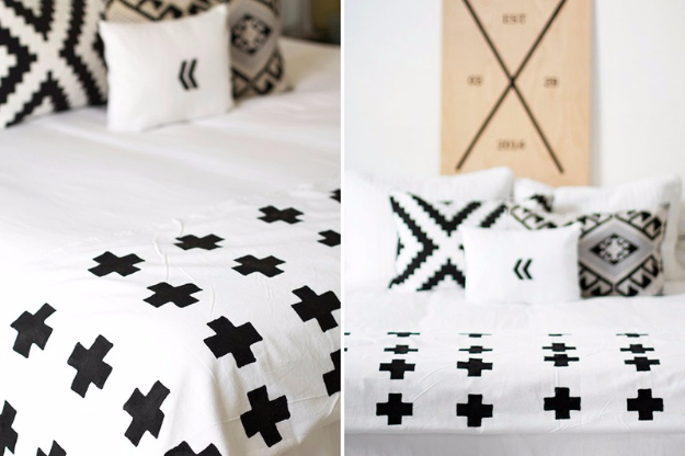 DIY Blankets and Throws - DIY Chic Plus Sign Blanket - How To Make Easy Home Decor and Warm Covers for Women, Kids, Teens and Adults - Fleece, Knit, No Sew and Easy Projects to Make for Bed and Sofa
