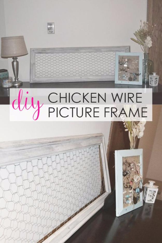 diy-chicken-wire-picture-frame - DIY Joy