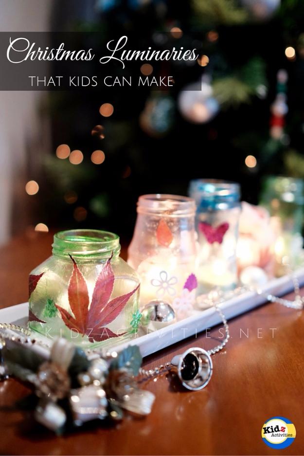 DIY Christmas Luminaries and Home Decor for The Holidays - DIY Christmas Luminaries - Cool Candle Holders, Tea Lights, Holiday Gift Ideas, Christmas Crafts for Kids #diy #luminaries #christmas