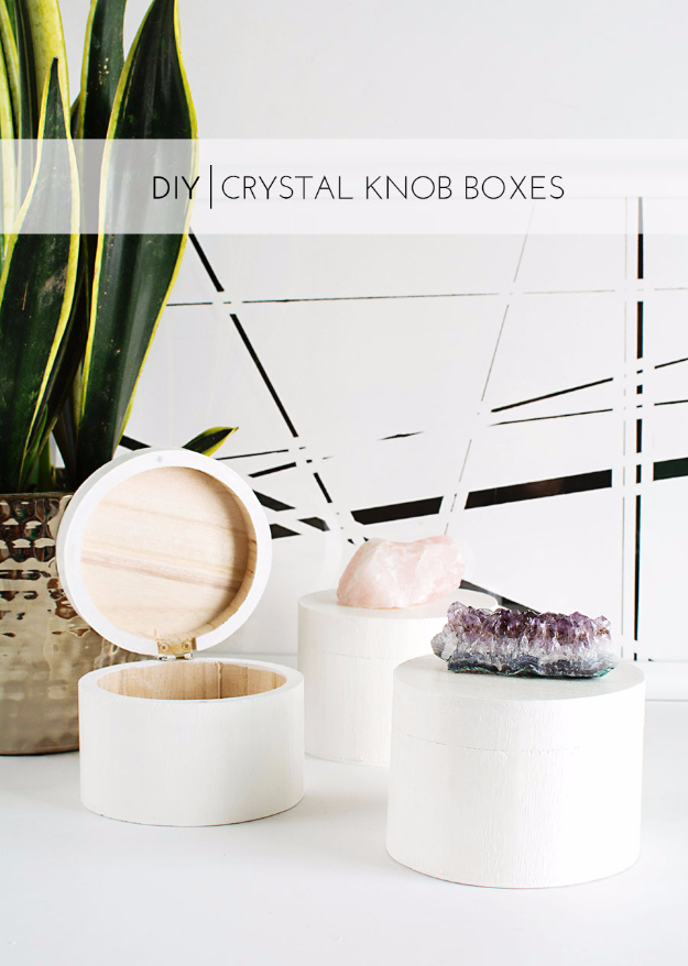 DIY Gift for the Office - DIY Crystal Knob Boxes - DIY Gift Ideas for Your Boss and Coworkers - Cheap and Quick Presents to Make for Office Parties, Secret Santa Gifts - Cool Mason Jar Ideas, Creative Gift Baskets and Easy Office Christmas Presents http://diyjoy.com/diy-gifts-office