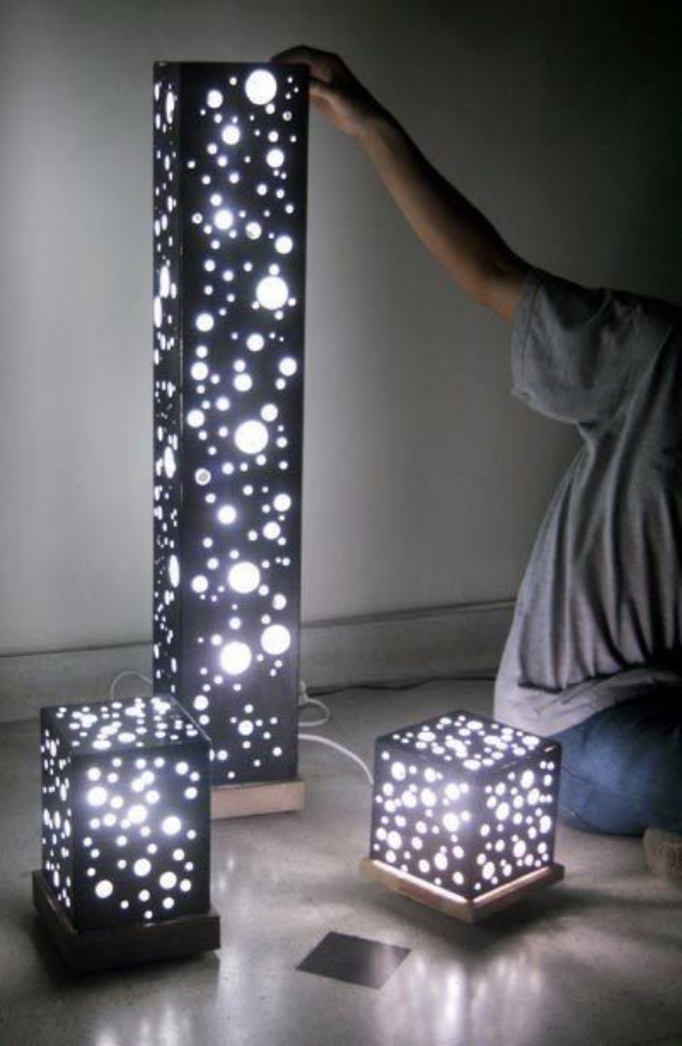 Cool Ways To Use Christmas Lights - DIY Fairy Light Lantern - Best Easy DIY Ideas for String Lights for Room Decoration, Home Decor and Creative DIY Bedroom Lighting #diy #christmas #homedecor