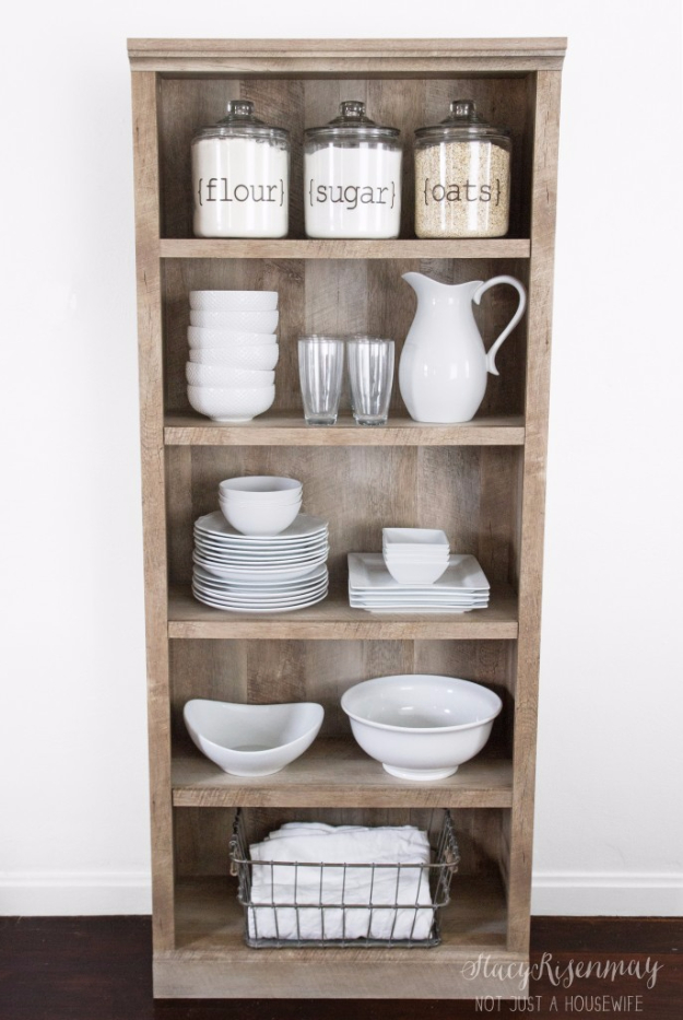 DIY Farmhouse Style Decor Ideas for the Kitchen - DIY Farmhouse Hutch - Rustic Farm House Ideas for Furniture, Paint Colors, Farm House Decoration for Home Decor in The Kitchen - Wall Art, Rugs, Countertops, Lights and Kitchen Accessories #farmhouse #diydecor