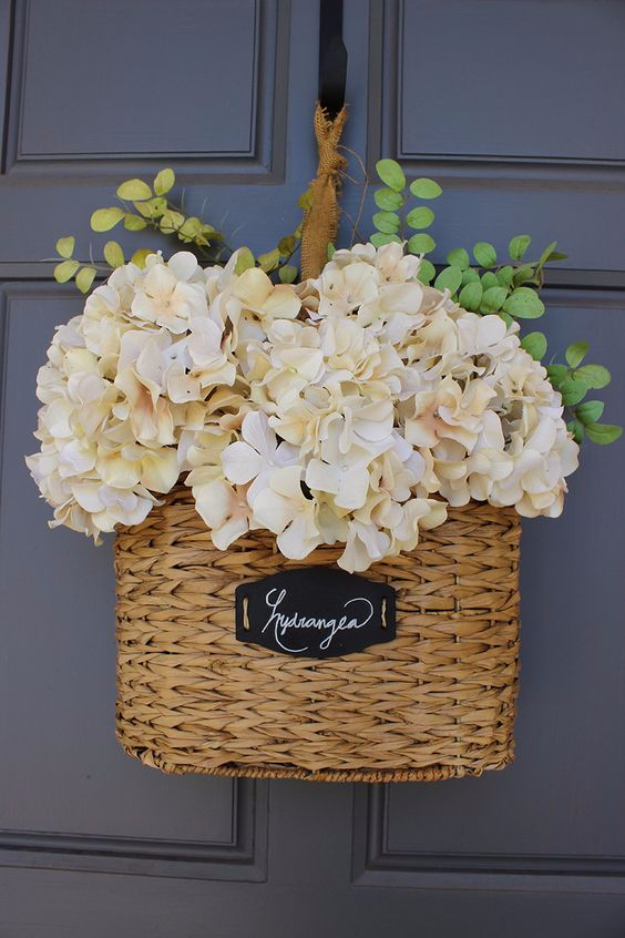 Creative Crafts Made With Baskets - DIY Floral Hanging Basket - DIY Storage and Organizing Ideas, Gift Basket Ideas, Best DIY Christmas Presents and Holiday Gifts, Room and Home Decor with Step by Step Tutorials - Easy DIY Ideas and Dollar Store Crafts http://diyjoy.com/diy-basket-crafts