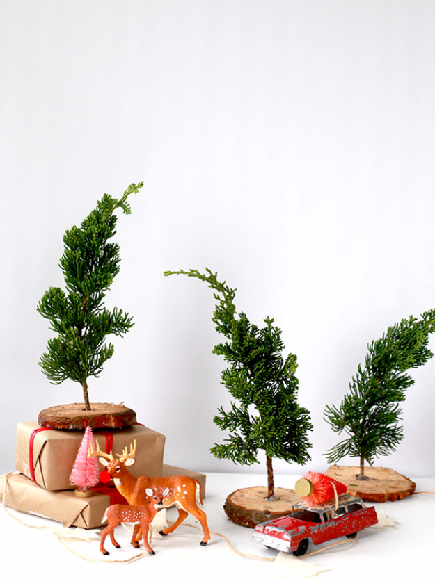 Best DIY Ideas for Your Christmas Tree - DIY Fresh Mini Trees - Cool Handmade Ornaments, DIY Decorating Ideas and Ornament Tutorials - Creative Ways To Decorate Trees on A Budget - Cheap Rustic Decor, Easy Step by Step Tutorials - Holiday Crafts for Kids and Gifts To Make For Friends and Family http://diyjoy.com/diy-ideas-christmas-tree