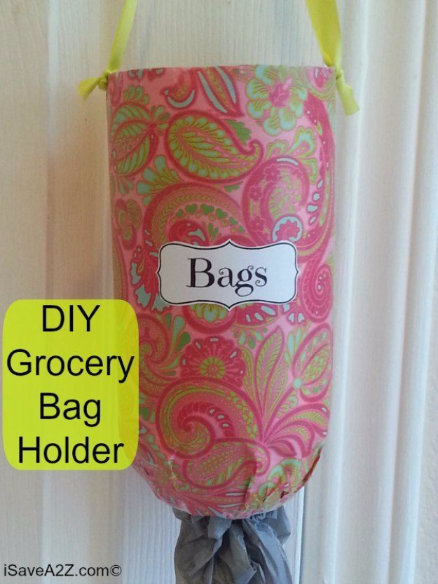 Cool DIY Projects Made With Plastic Bottles - DIY Grocery Bag Holder - Best Easy Crafts and DIY Ideas Made With A Recycled Plastic Bottle - Jewlery, Home Decor, Planters, Craft Project Tutorials - Cheap Ways to Decorate and Creative DIY Gifts for Christmas Holidays - Fun Projects for Adults, Teens and Kids