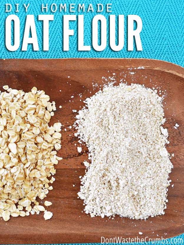 Best Baking Hacks - DIY Homemade Oat Flour - DIY Cooking Tips and Tricks for Baking Recipes - Quick Ways to Bake Cake, Cupcakes, Desserts and Cookies - Kitchen Lifehacks for Bakers