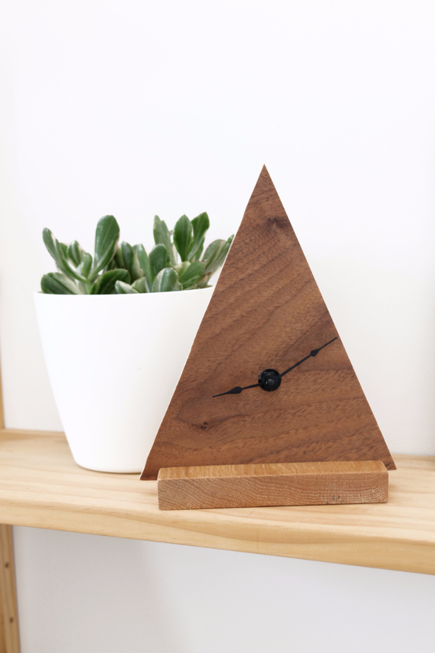 DIY Gifts for Friends - Christmas Gift Idea for Neighbor - - DIY Minimal Geometric Clock - Cute Mason Jar Crafts, Gift Baskets and Cheap and Easy Gift Ideas to Make for Friends - Do It Yourself Projects You Can Sew and Craft That Make Awesome DIY Gifts and Homemade Christmas Presents #diygifts #christmasgifts #xmasgifts
