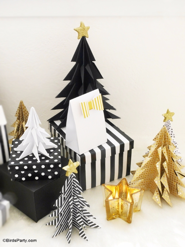 Best DIY Ideas for Your Christmas Tree - DIY Origami Paper Christmas Trees - Cool Handmade Ornaments, DIY Decorating Ideas and Ornament Tutorials - Creative Ways To Decorate Trees on A Budget - Cheap Rustic Decor, Easy Step by Step Tutorials - Holiday Crafts for Kids and Gifts To Make For Friends and Family http://diyjoy.com/diy-ideas-christmas-tree