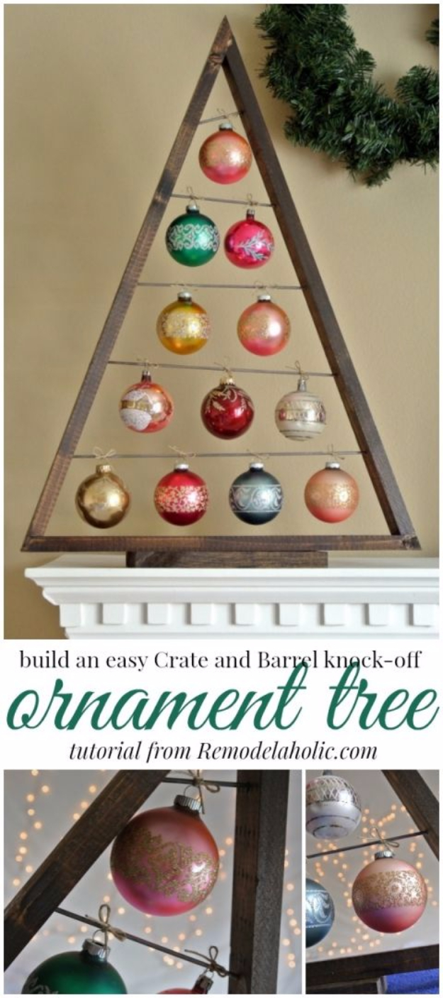 Best DIY Ideas for Your Christmas Tree - DIY Ornament Display Tree - Cool Handmade Ornaments, DIY Decorating Ideas and Ornament Tutorials - Creative Ways To Decorate Trees on A Budget - Cheap Rustic Decor, Easy Step by Step Tutorials - Holiday Crafts for Kids and Gifts To Make For Friends and Family http://diyjoy.com/diy-ideas-christmas-tree