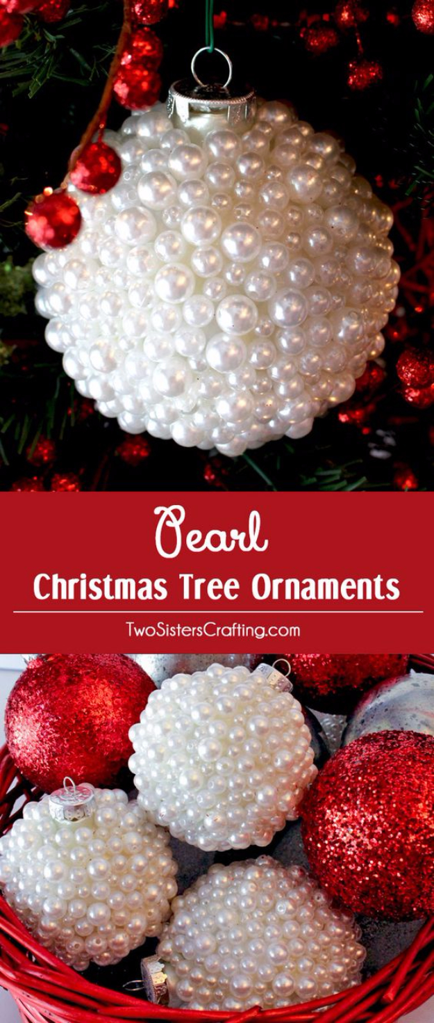 Best DIY Ornaments for Your Tree - Best DIY Ornament Ideas for Your Christmas Tree - DIY Pearl Christmas Ornaments - Cool Handmade Ornaments, DIY Decorating Ideas and Ornament Tutorials - Creative Ways To Decorate Trees on A Budget - Cheap Rustic Decor, Easy Step by Step Tutorials - Holiday Crafts for Kids and Gifts To Make For Friends and Family