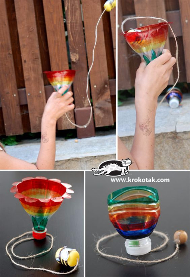 Cool DIY Projects Made With Plastic Bottles - DIY Plastic Bottles Game - Best Easy Crafts and DIY Ideas Made With A Recycled Plastic Bottle - Jewlery, Home Decor, Planters, Craft Project Tutorials - Cheap Ways to Decorate and Creative DIY Gifts for Christmas Holidays - Fun Projects for Adults, Teens and Kids