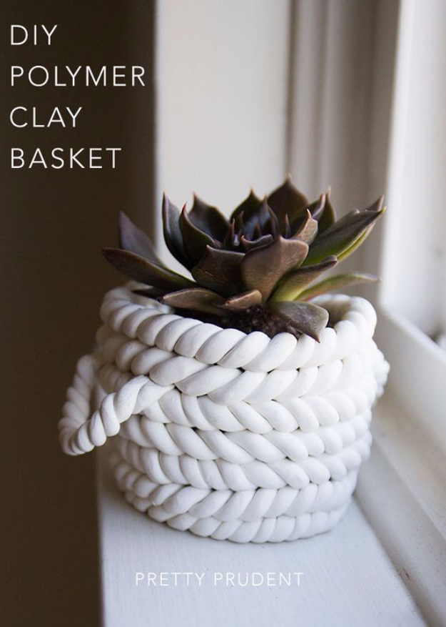 Creative Crafts Made With Baskets - DIY Polymer Clay Baskets - DIY Storage and Organizing Ideas, Gift Basket Ideas, Best DIY Christmas Presents and Holiday Gifts, Room and Home Decor with Step by Step Tutorials - Easy DIY Ideas and Dollar Store Crafts http://diyjoy.com/diy-basket-crafts