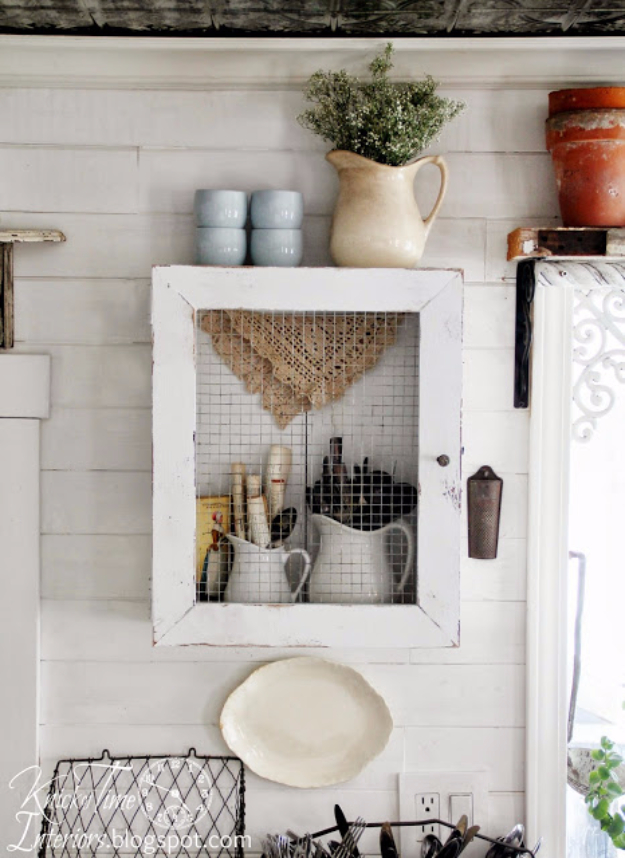 DIY Farmhouse Style Decor Ideas for the Kitchen - DIY Primitive Cabinet - Rustic Farm House Ideas for Furniture, Paint Colors, Farm House Decoration for Home Decor in The Kitchen - Wall Art, Rugs, Countertops, Lights and Kitchen Accessories http://diyjoy.com/diy-farmhouse-kitchen