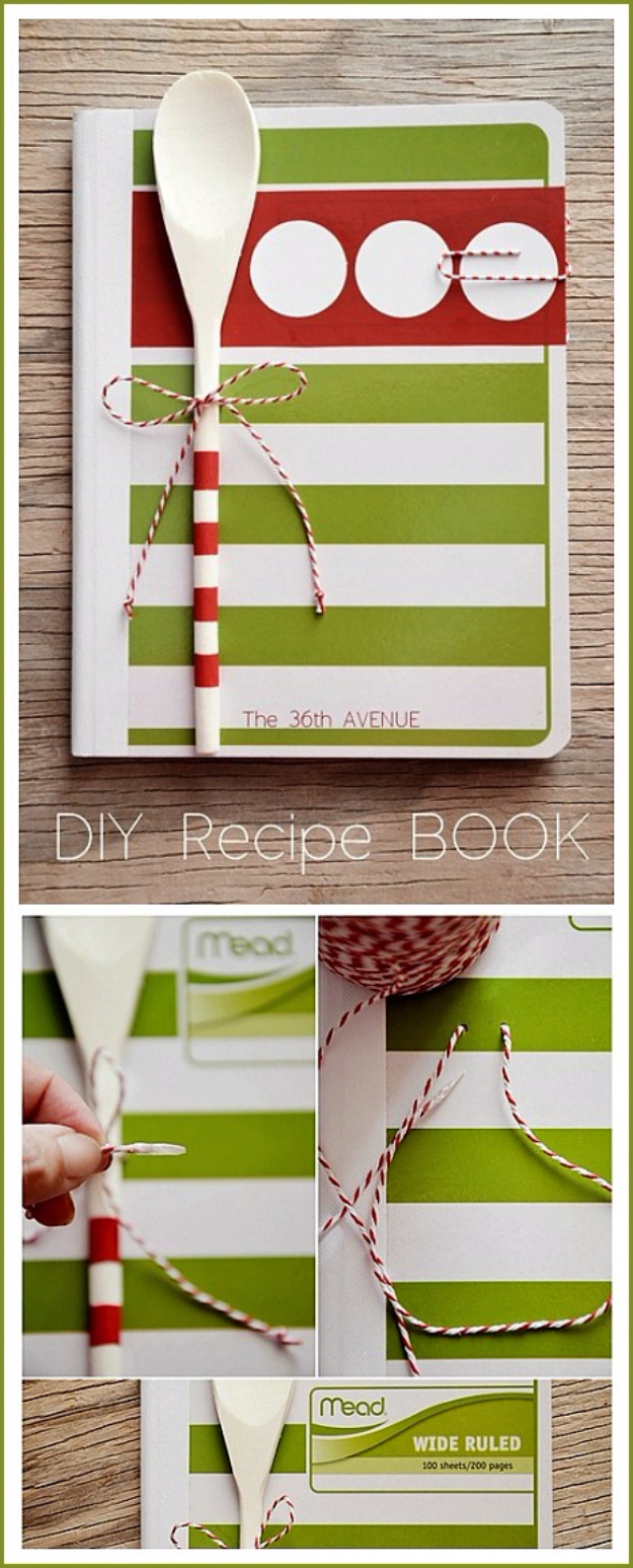DIY Gifts for Friends - Christmas Gift Idea for Neighbor - - DIY Recipe Book - Cute Mason Jar Crafts, Gift Baskets and Cheap and Easy Gift Ideas to Make for Friends - Do It Yourself Projects You Can Sew and Craft That Make Awesome DIY Gifts and Homemade Christmas Presents #diygifts #christmasgifts #xmasgifts