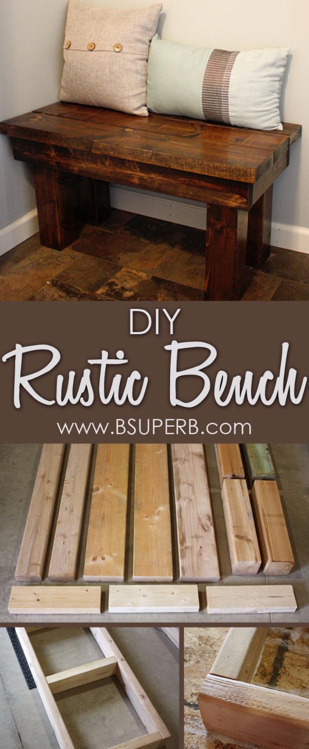 diy farmhouse style decor ideas for the bedroom diy rustic bedroom bench rustic farm - Rustic Bedroom Decor