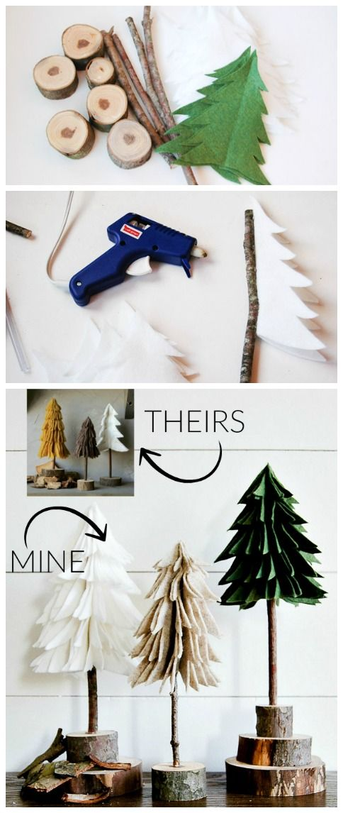 Best DIY Ideas for Your Christmas Tree - DIY Rustic Felt Christmas Tree - Cool Handmade Ornaments, DIY Decorating Ideas and Ornament Tutorials - Creative Ways To Decorate Trees on A Budget - Cheap Rustic Decor, Easy Step by Step Tutorials - Holiday Crafts for Kids and Gifts To Make For Friends and Family http://diyjoy.com/diy-ideas-christmas-tree