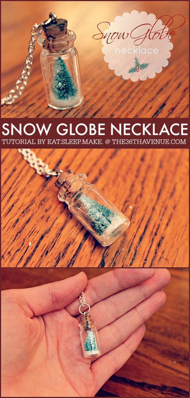 Best DIY Ideas for Wintertime - DIY Snow Globe Necklace - Winter Crafts with Snowflakes, Icicle Art and Projects, Wreaths, Woodland and Winter Wonderland Decor, Mason Jars and Dollar Store Ideas - Easy DIY Ideas to Decorate Home and Room for Winter - Creative Home Decor and Room Decorations for Adults, Teens and Kids #diy #winter #crafts