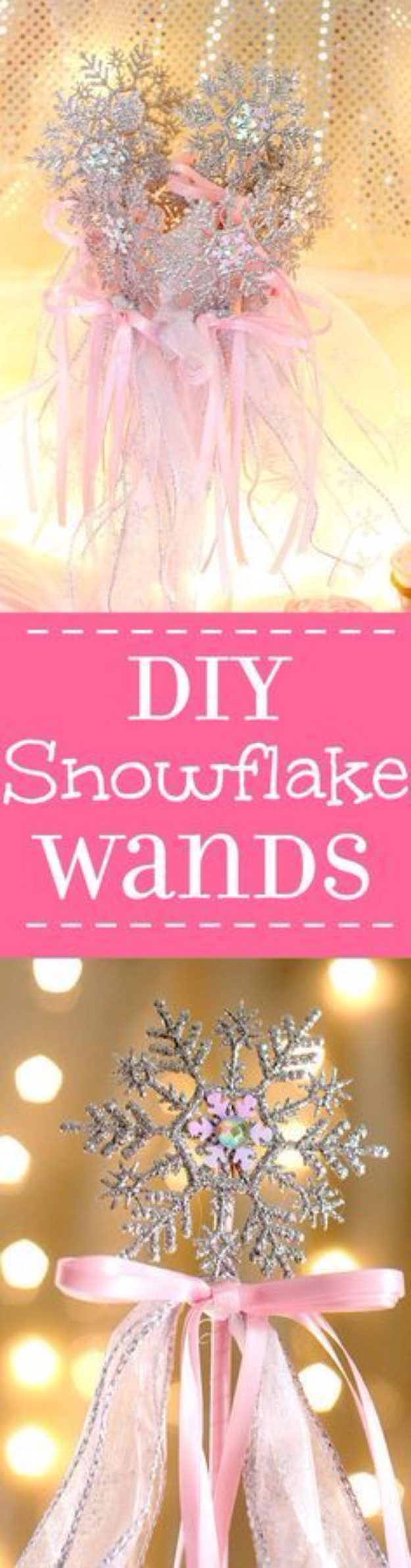 Best DIY Ideas for Wintertime - DIY Snowflake Wands - Winter Crafts with Snowflakes, Icicle Art and Projects, Wreaths, Woodland and Winter Wonderland Decor, Mason Jars and Dollar Store Ideas - Easy DIY Ideas to Decorate Home and Room for Winter - Creative Home Decor and Room Decorations for Adults, Teens and Kids #diy #winter #crafts
