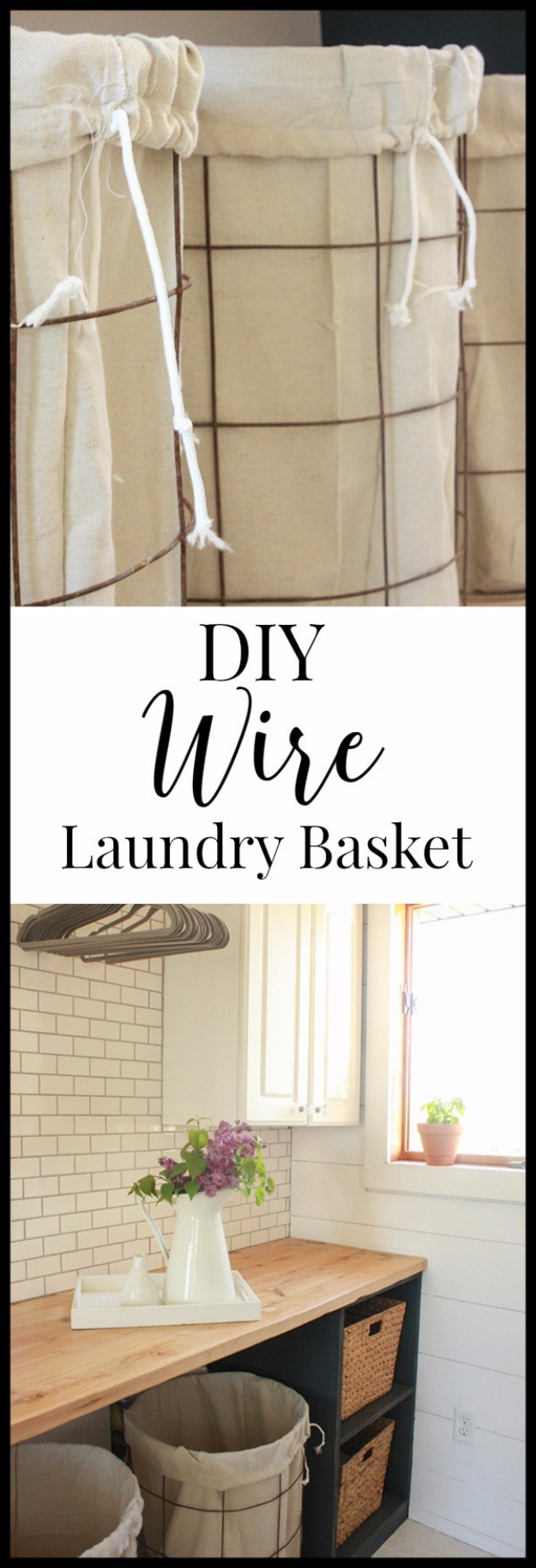 Creative Crafts Made With Baskets - DIY Wire Laundry Baskets - DIY Storage and Organizing Ideas, Gift Basket Ideas, Best DIY Christmas Presents and Holiday Gifts, Room and Home Decor with Step by Step Tutorials - Easy DIY Ideas and Dollar Store Crafts #crafts #diy