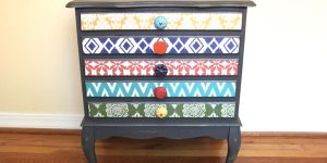 Watch How He Creates An Amazing Artsy New Look On This Antique Chest!
