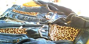 Watch How She Embellishes A Denim Jacket With Leopard Print Fabric (Stunning!)