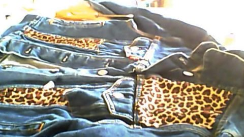 Watch How She Embellishes A Denim Jacket With Leopard Print Fabric (Stunning!) | DIY Joy Projects and Crafts Ideas
