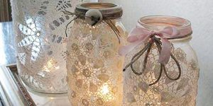 Learn How To Make These Creative Mason Jar Lights With Antique Doilies