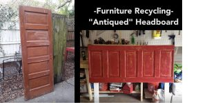 He Upcycles An Old Door Into An Amazing Antiqued Headboard!