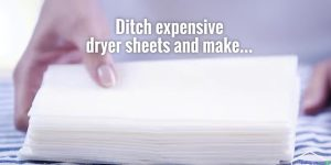 She Makes Her Own All Natural Dryer Sheets Due To Scary Health Dangers (Easy And Cheap!)